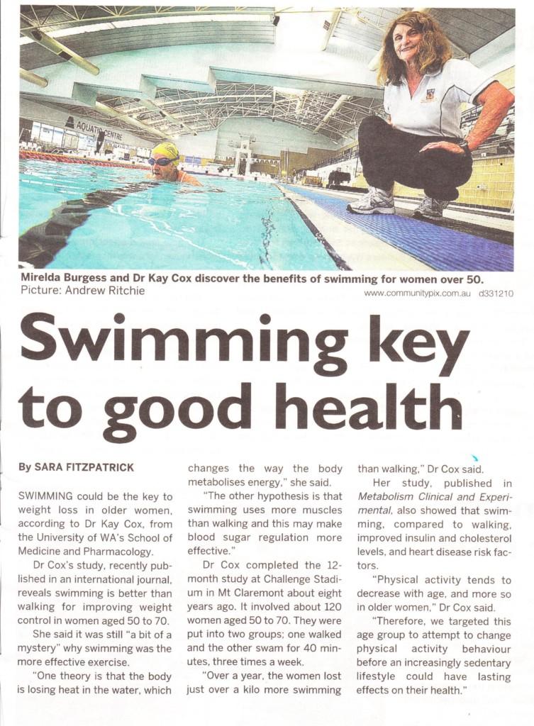Swimming key to good health
